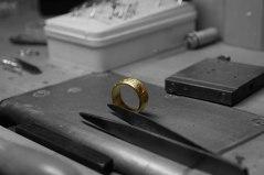Silberring mit Gold von Andrea Stork